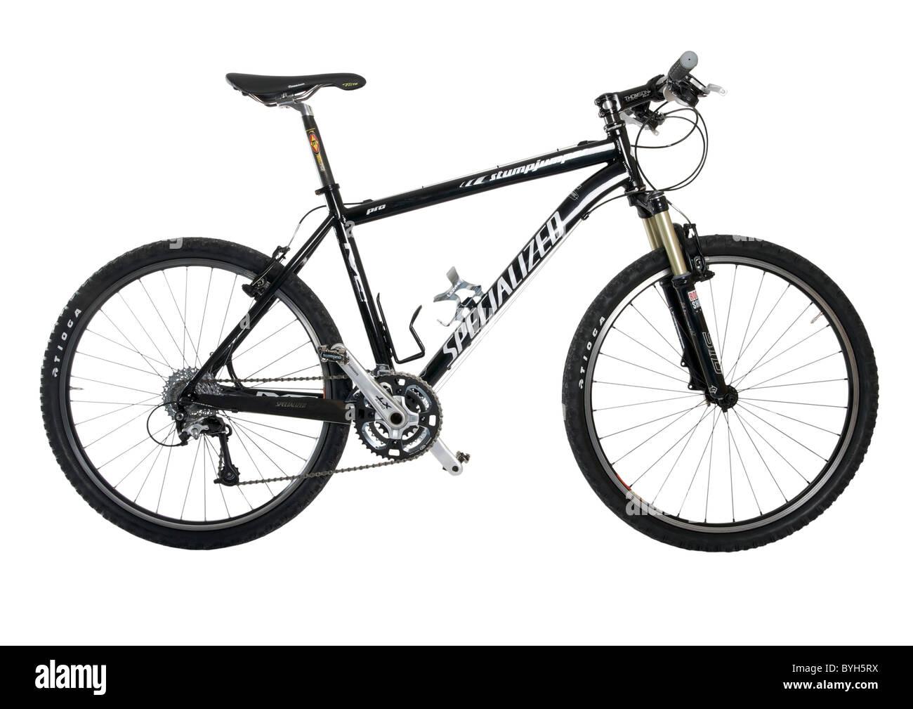 Hardtail bicicleta de montaña sobre fondo blanco. Imagen De Stock