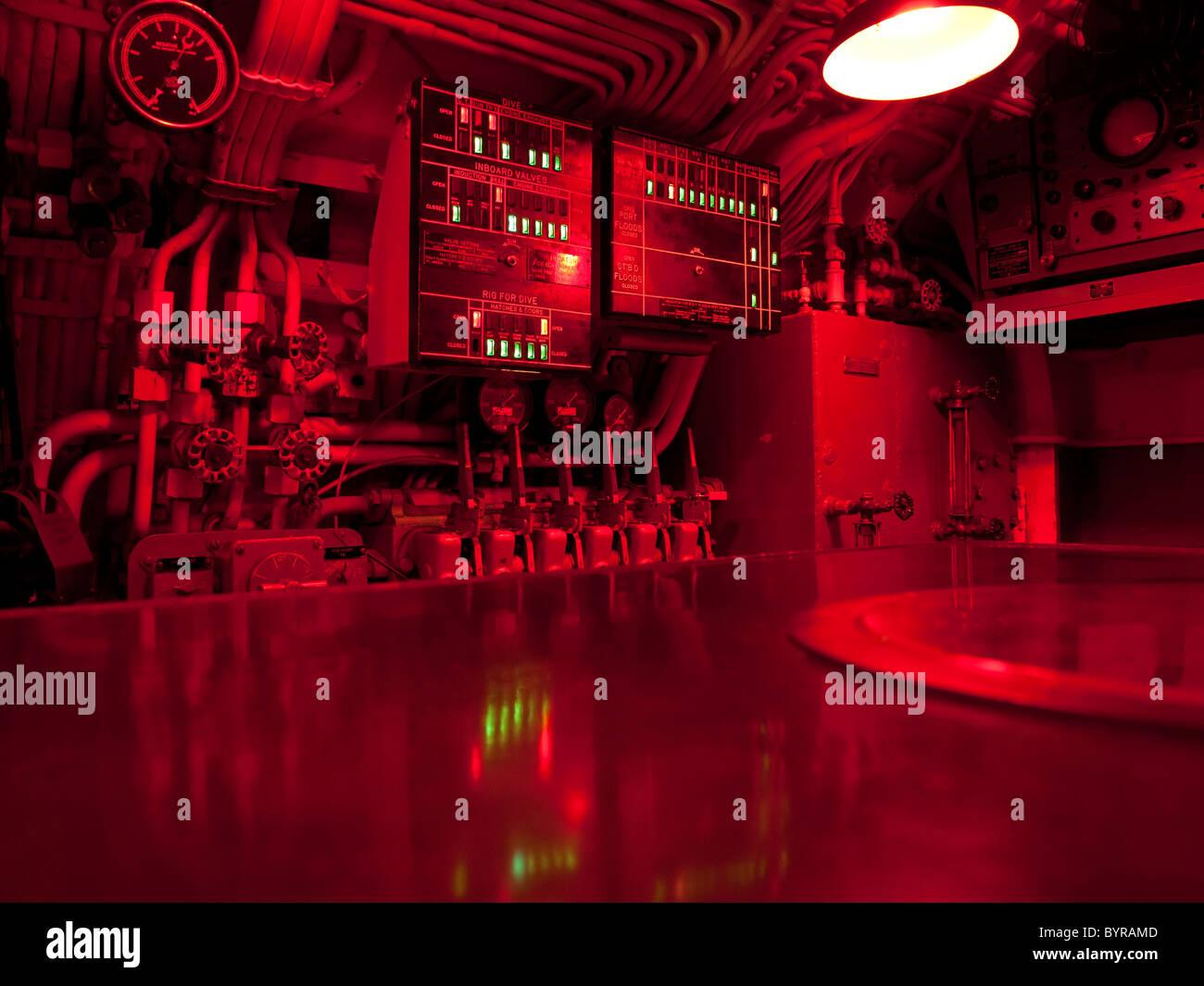 Centro de Comando submarino Imagen De Stock