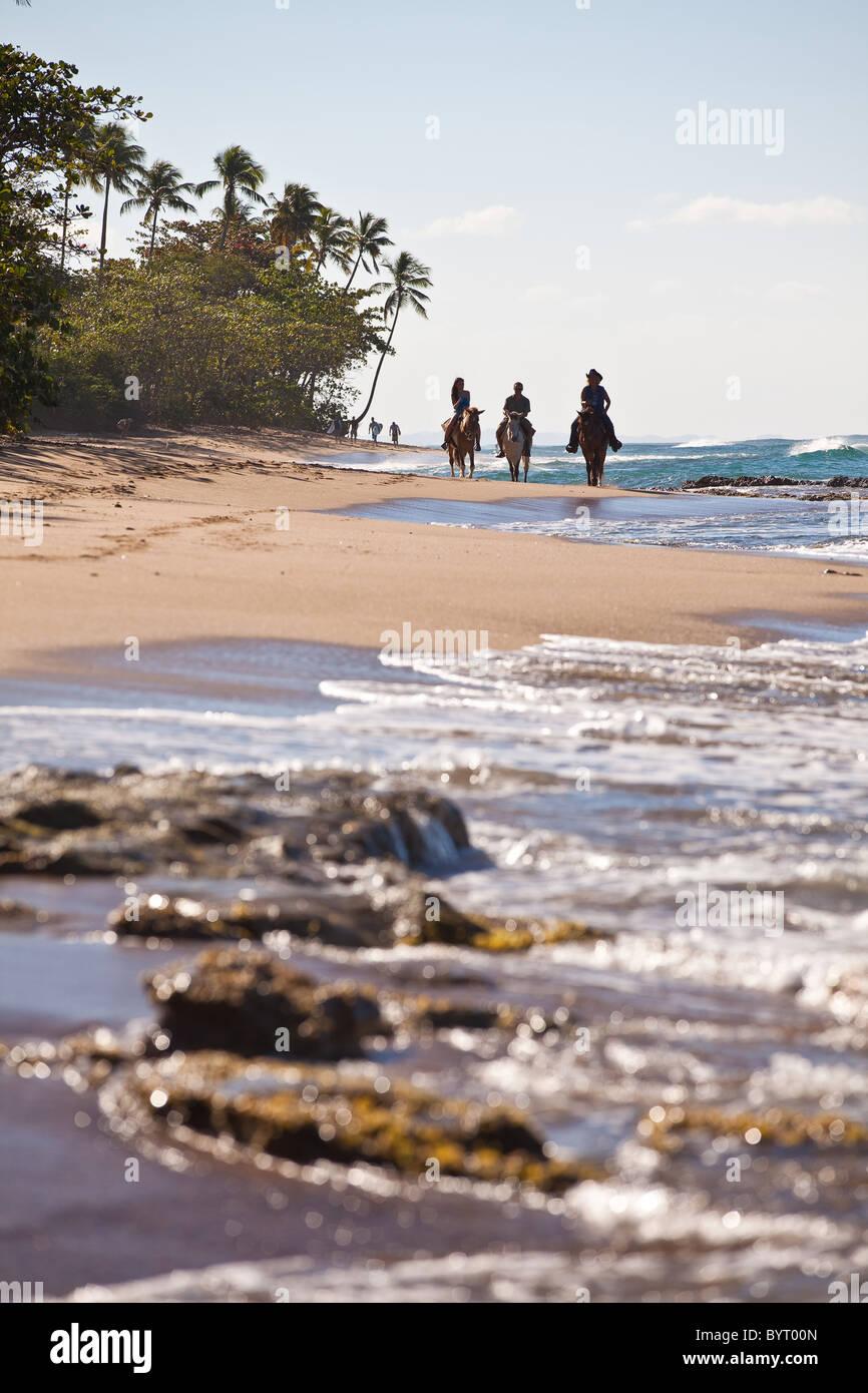 A Caballo en Las Marías playa en Rincón Puerto Rico Imagen De Stock