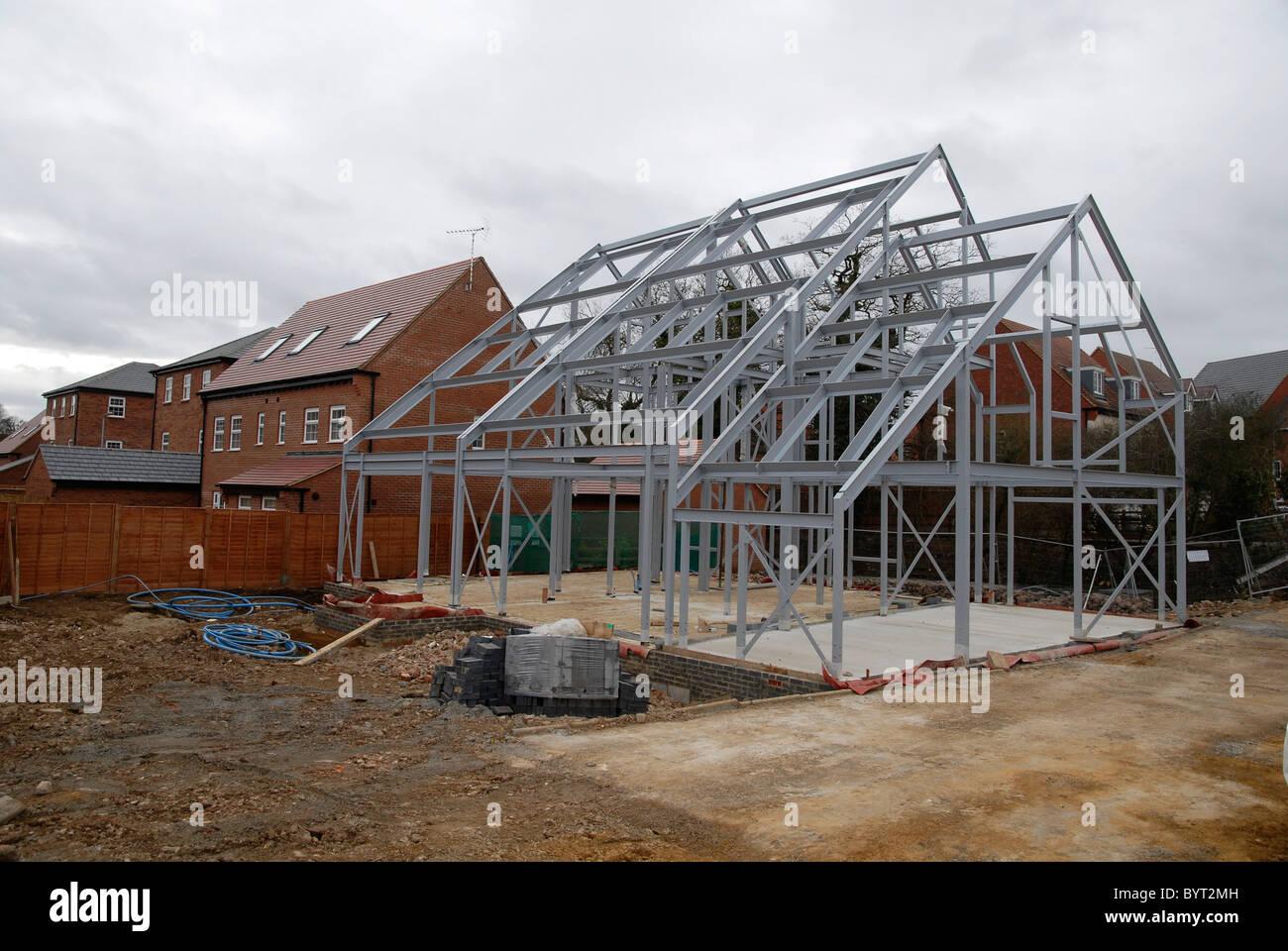 Marco de metal para una casa newbuild en el Reino Unido Foto ...