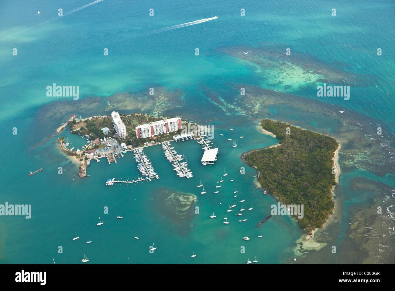 Vista aérea de Fajardo, Puerto del Rey marina de Puerto Rico. Imagen De Stock