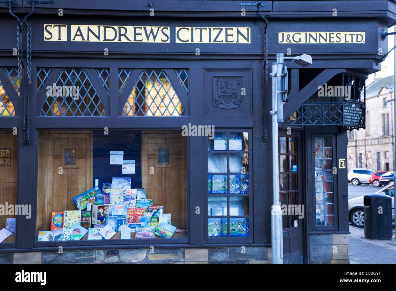 St Andrews Librería ciudadana e impresoras St Andrews Fife Escocia Foto de stock