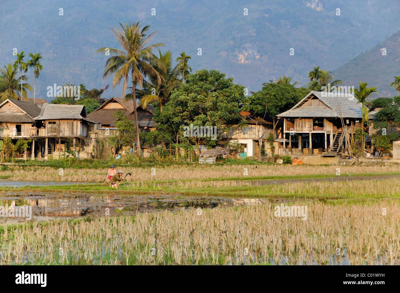 Mai Chau, una aldea donde viven minorías étnicas, Vietnam, Sudeste de Asia Imagen De Stock