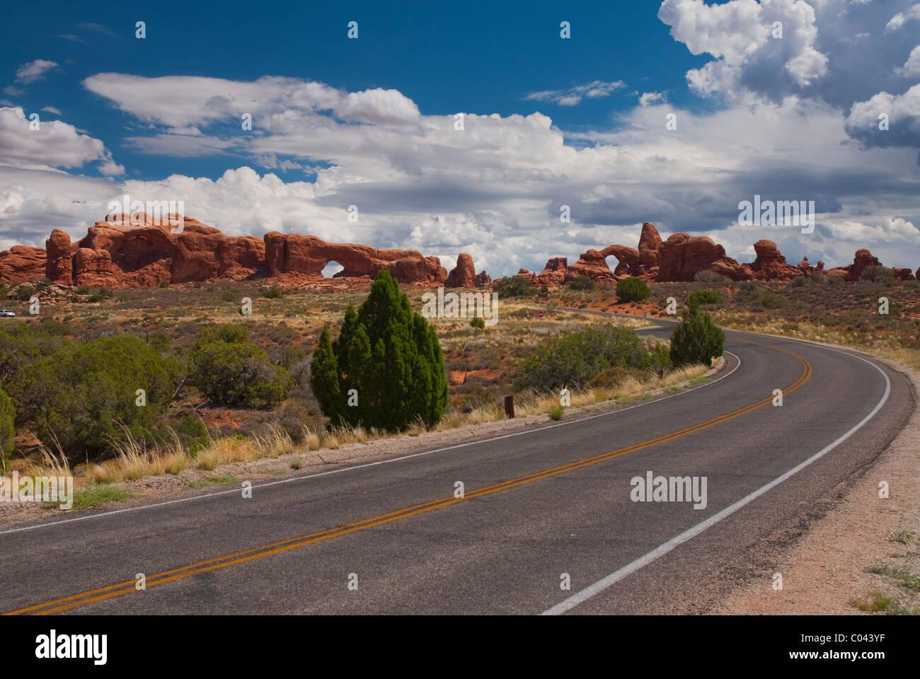 Arcos en el Parque Nacional de Arches, en Utah Foto de stock