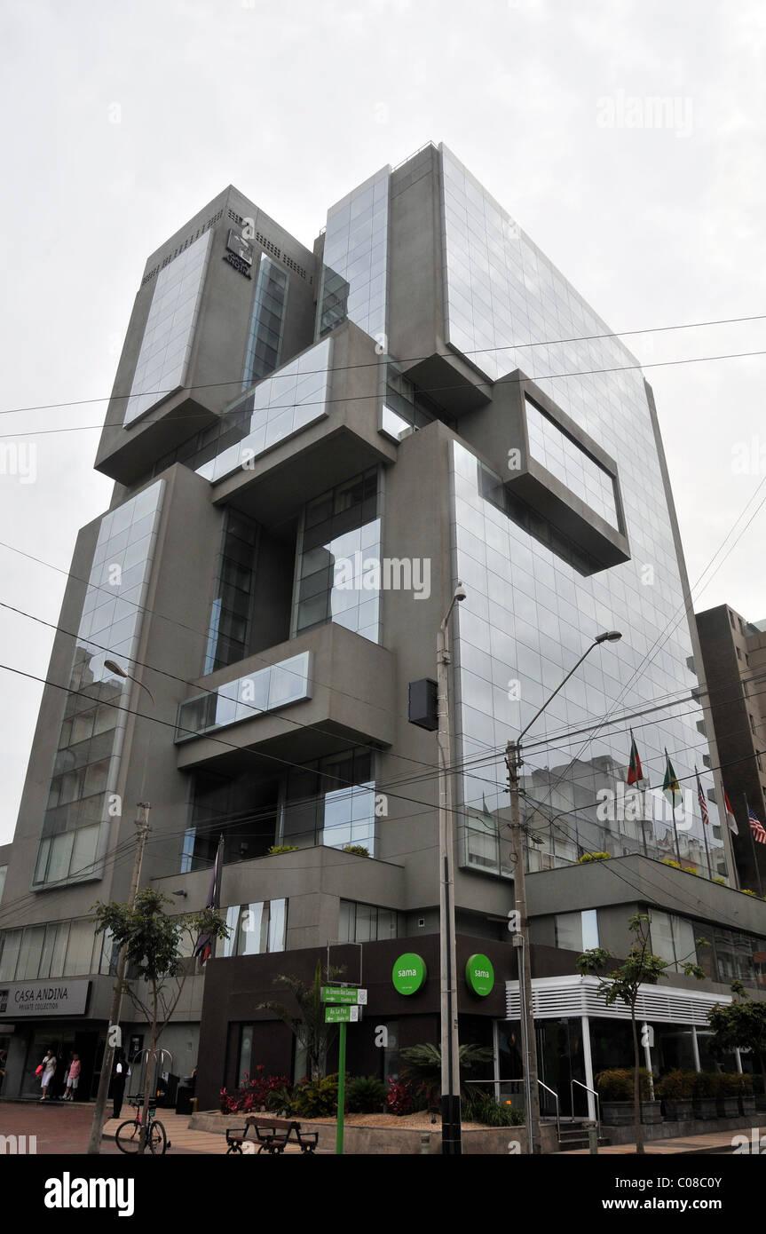 El hotel Casa Andina Private Collection Miraflores, Lima, Perú Foto de stock