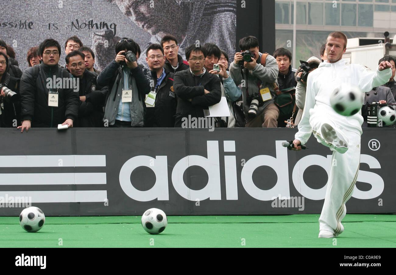 Tratamiento dirección reserva  David Beckham en LA Galaxy un acto promocional de Adidas, Seúl, Corea del  Sur - 29.02.08 WENN Fotografía de stock - Alamy