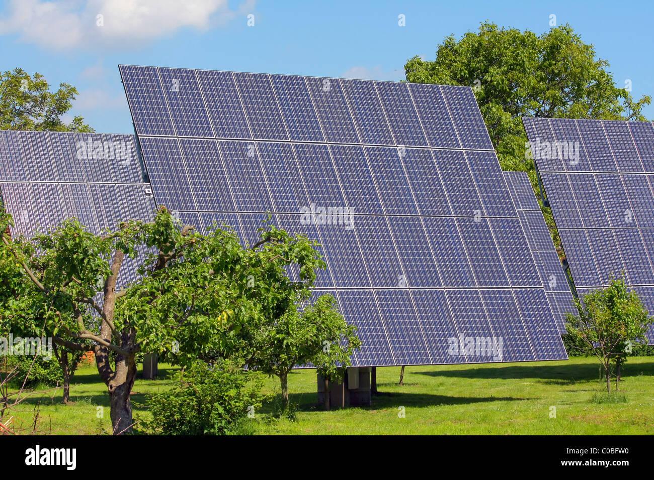 Planta de energía solar Imagen De Stock