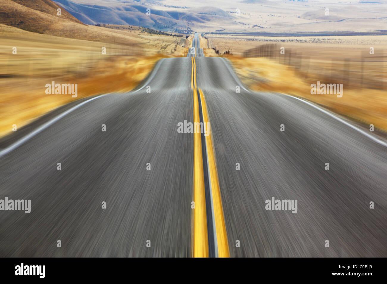 Un espejismo en alta velocidad. Imagen De Stock
