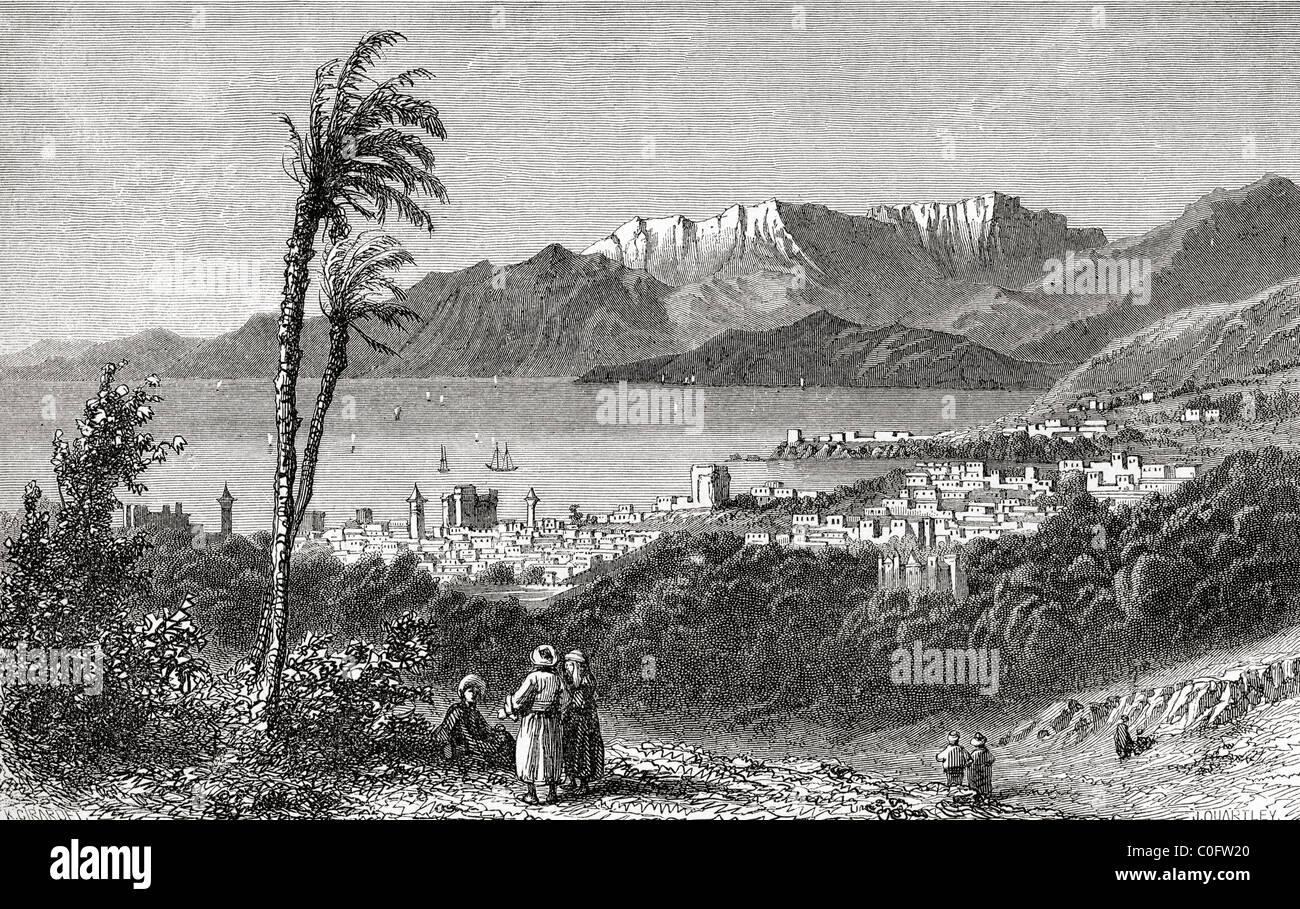 Una vista de Beirut y el Líbano en el siglo XIX. Imagen De Stock