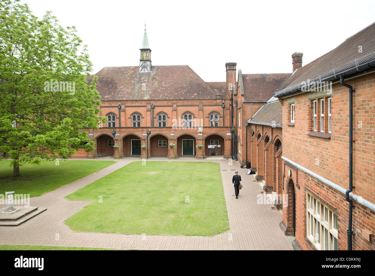 El Cuadrángulo en Maidstone Grammar School en Maidstone, Kent, Reino Unido. Imagen De Stock
