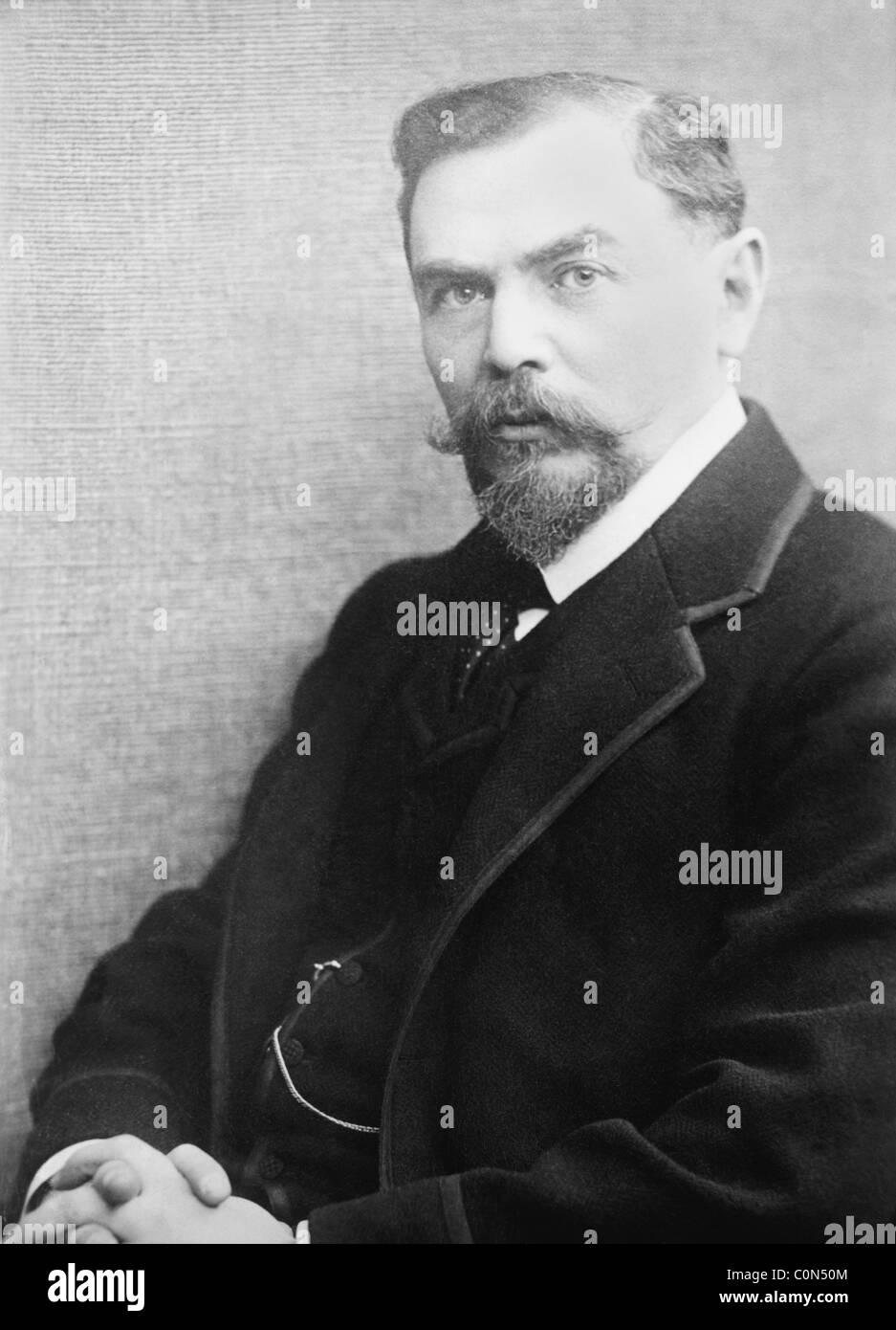 Periodista y pacifista judío austríaco Alfred Hermann Fried (1864 - 1921) - co-ganador del Premio Nobel Imagen De Stock