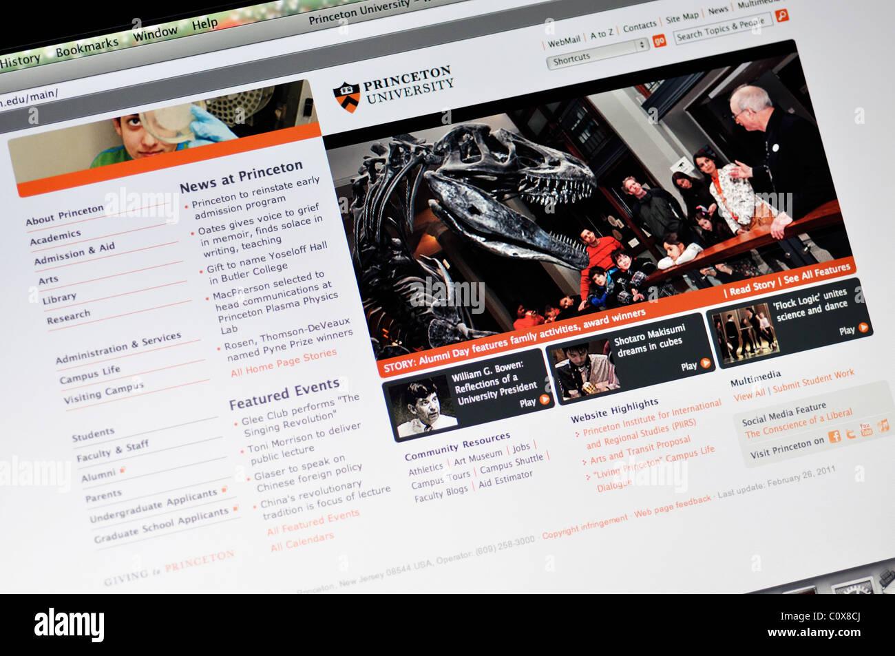 Sitio web de la Universidad de Princeton Imagen De Stock