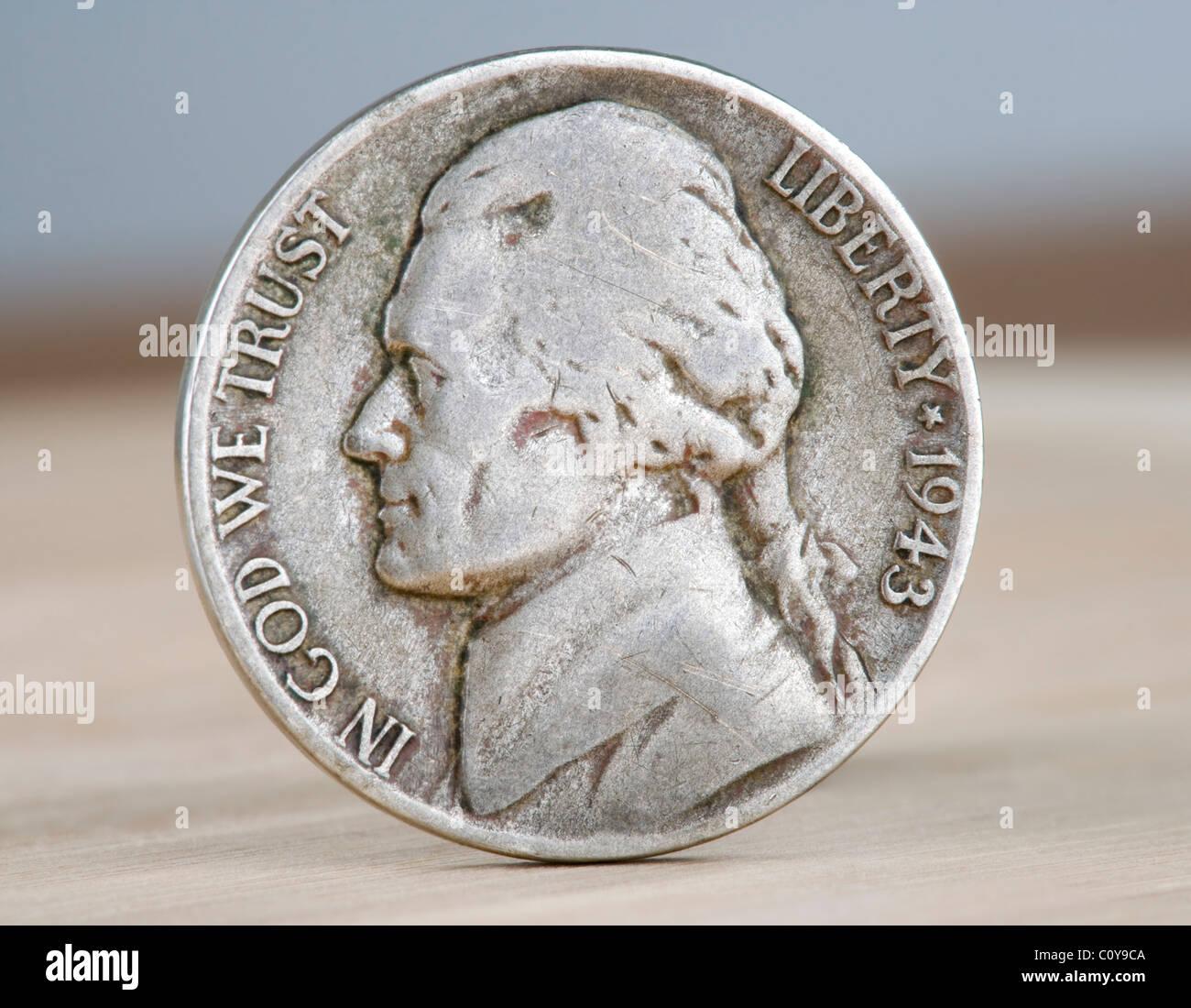1943 guerra de níquel. Llamado así porque durante la primera guerra mundial, el níquel fue de alta Imagen De Stock