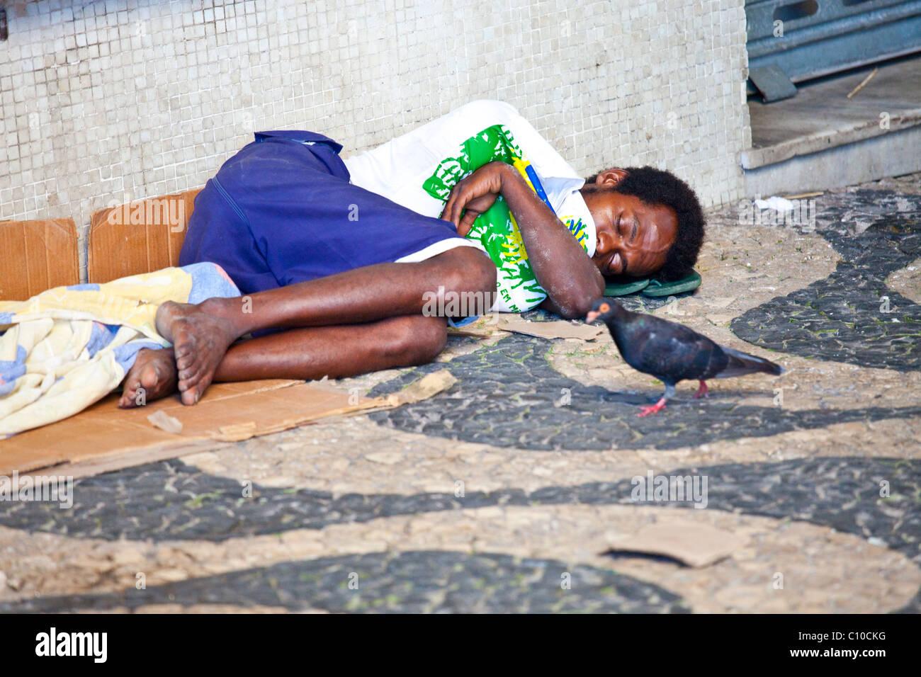 Sin hogar en Salvador, Bahia, Brasil Imagen De Stock