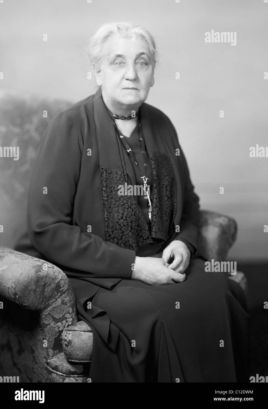 Reformador social estadounidense, activista y pacifista Jane Addams (1860 - 1935) - co-ganador del Premio Nobel Imagen De Stock