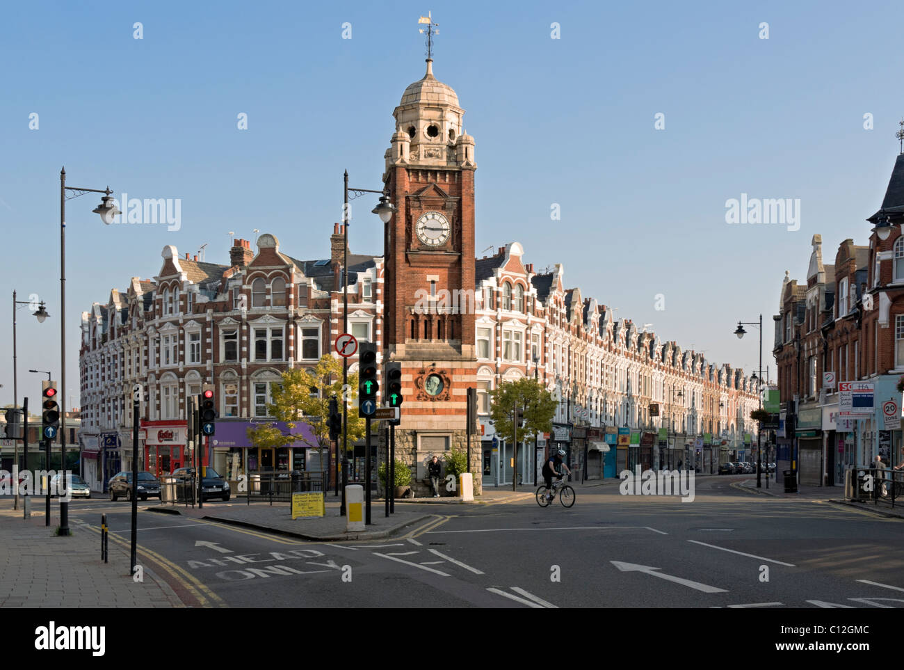 Crouch End Broadway; Hornsey; Londres Imagen De Stock