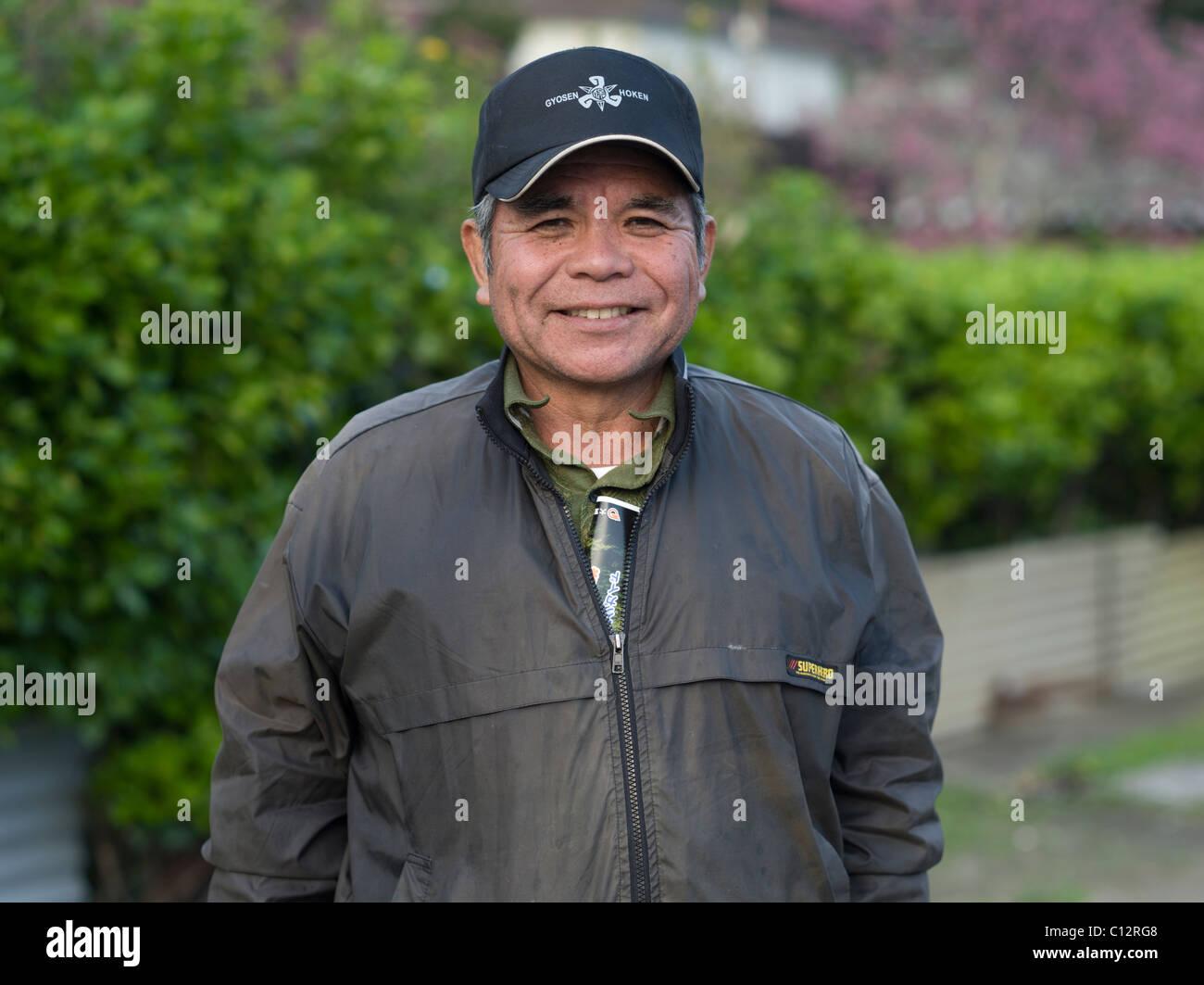 Salud y feliz el hombre de Okinawa en sus 60's Imagen De Stock