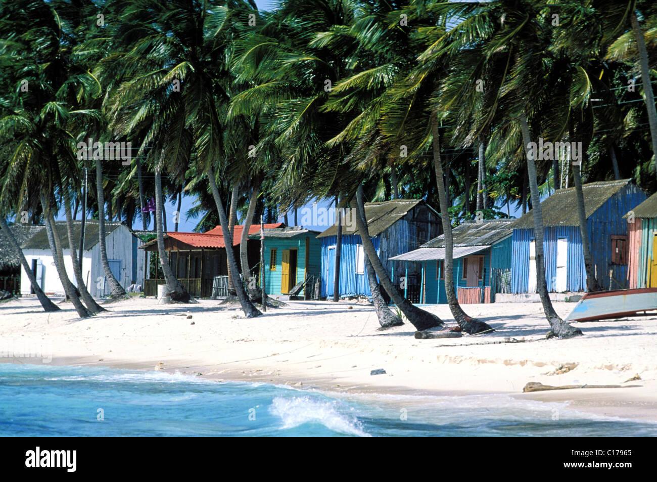 República Dominicana, Isla Saona, Mano Juan, pueblo pesquero Imagen De Stock