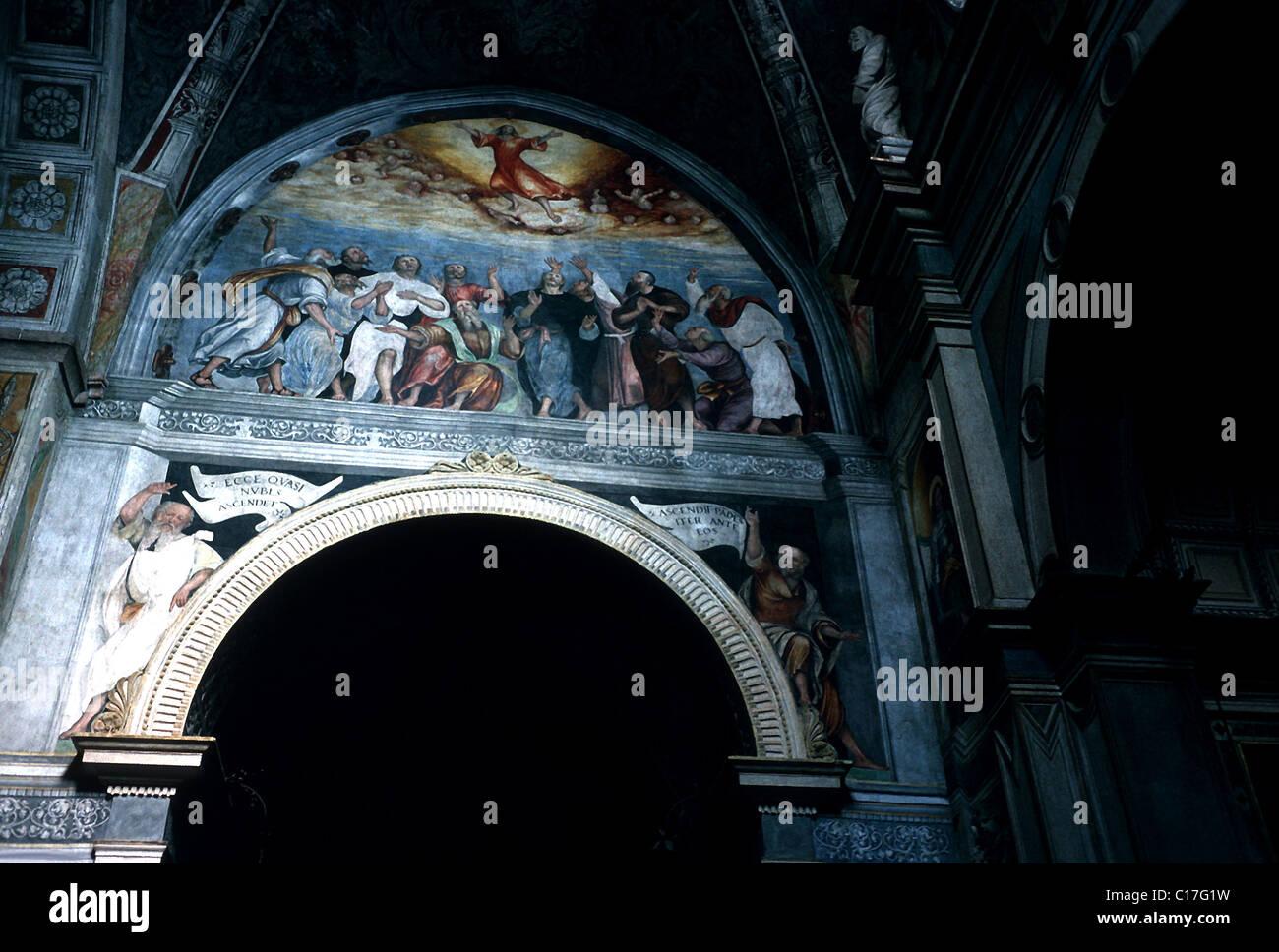 Italia, Venecia, Verona: Santa Maria en Organo Imagen De Stock