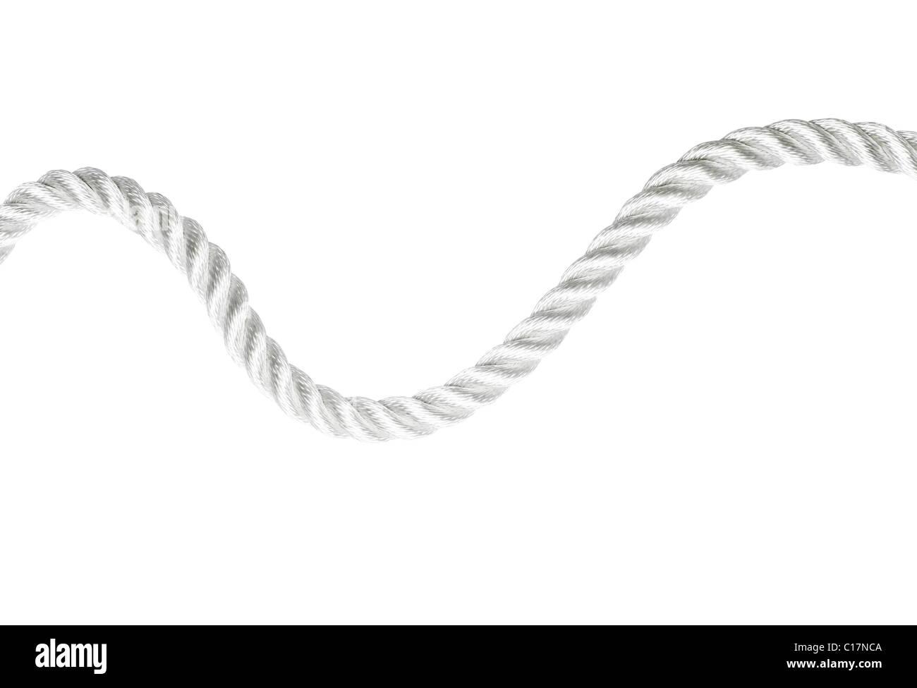 Simple cuerda blanca aislada Imagen De Stock