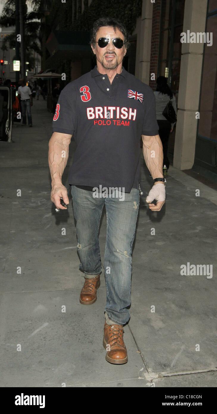 Sylvester Stallone No Shirt