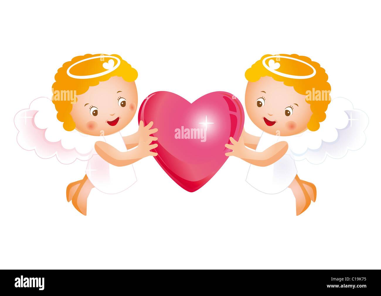 Bonito Día De San Valentín En El Cielo Foto Imagen De