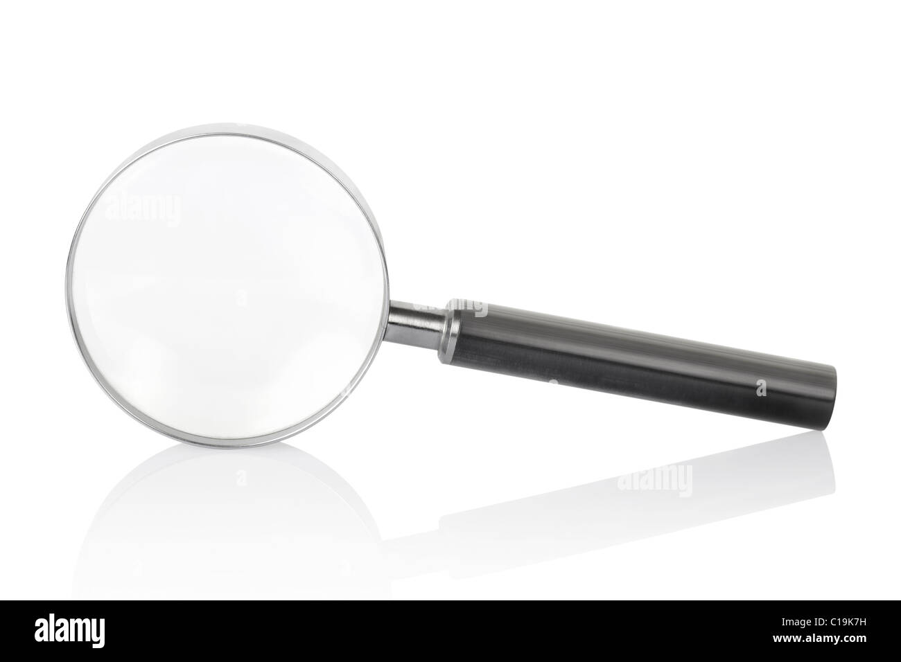 Lupa aislado sobre fondo blanco. Imagen De Stock