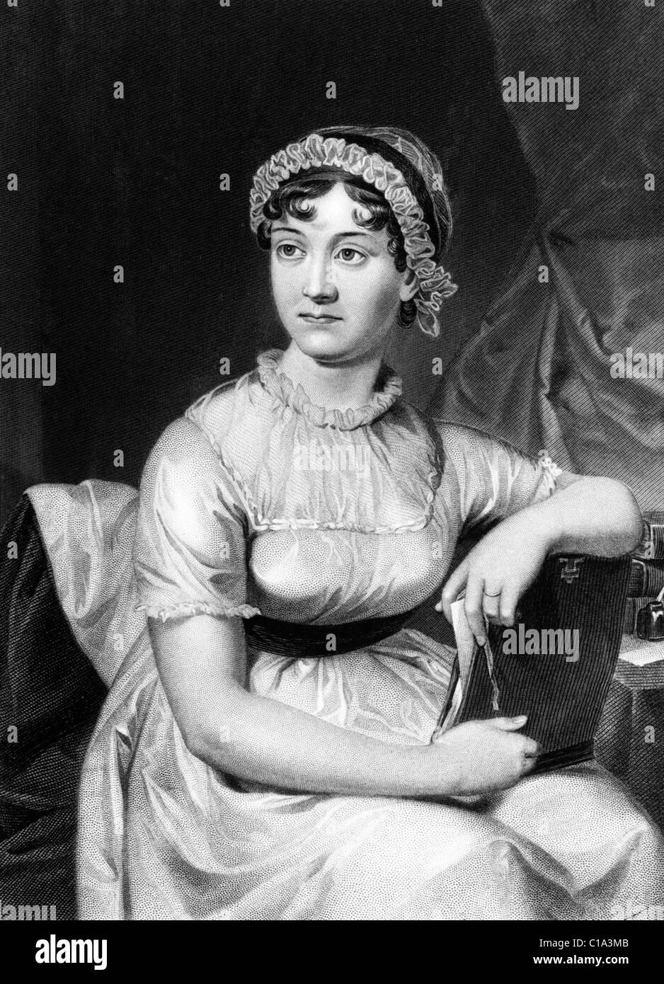 Jane Austen novelista inglesa Jane Austen Imagen De Stock
