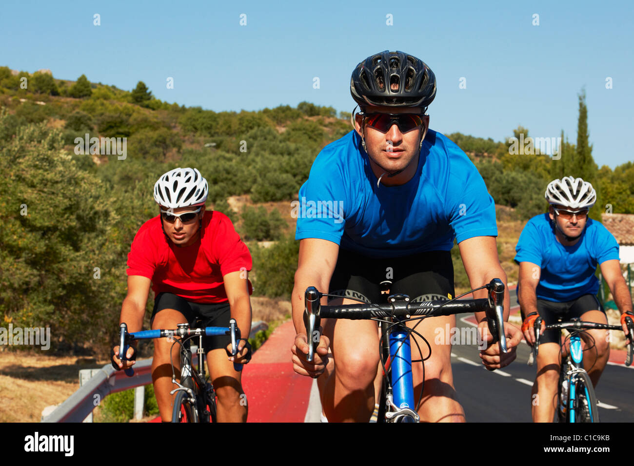 Ciclo que compite con Foto de stock