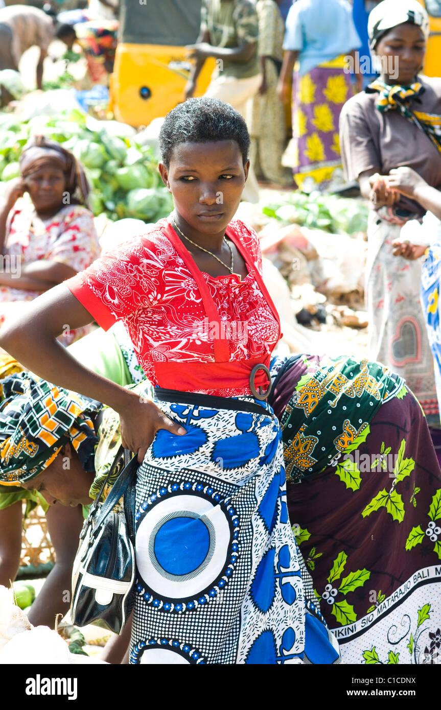 Escena del mercado central, Malindi, Kenia Imagen De Stock