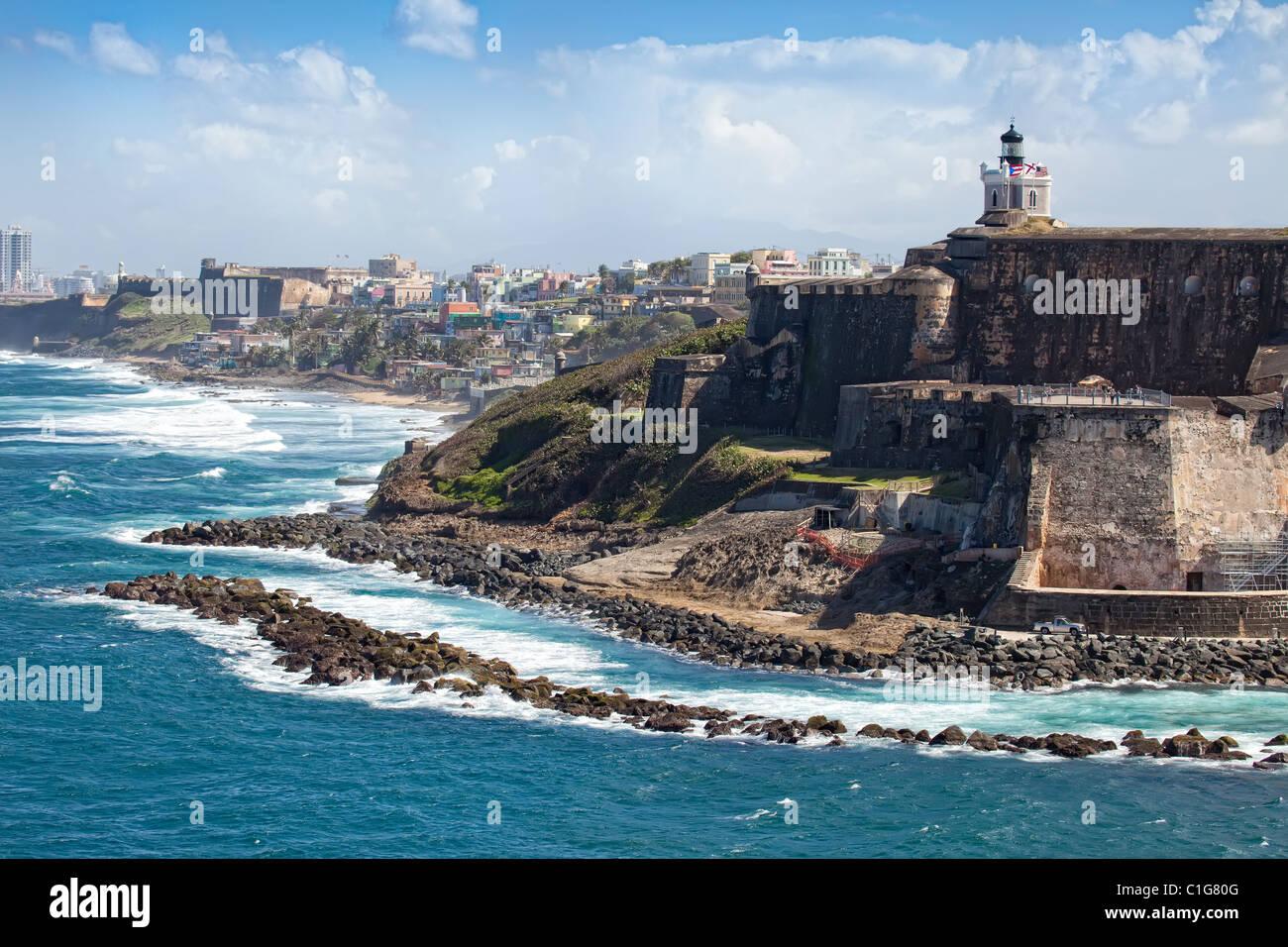 El Castillo del Morro, San Juan, Puerto Rico Imagen De Stock