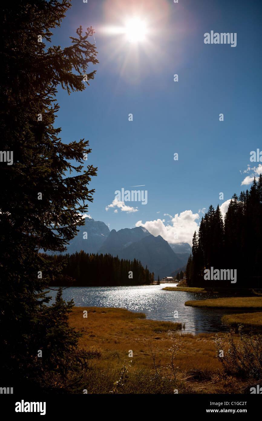 Lago di Dobiacco Imagen De Stock