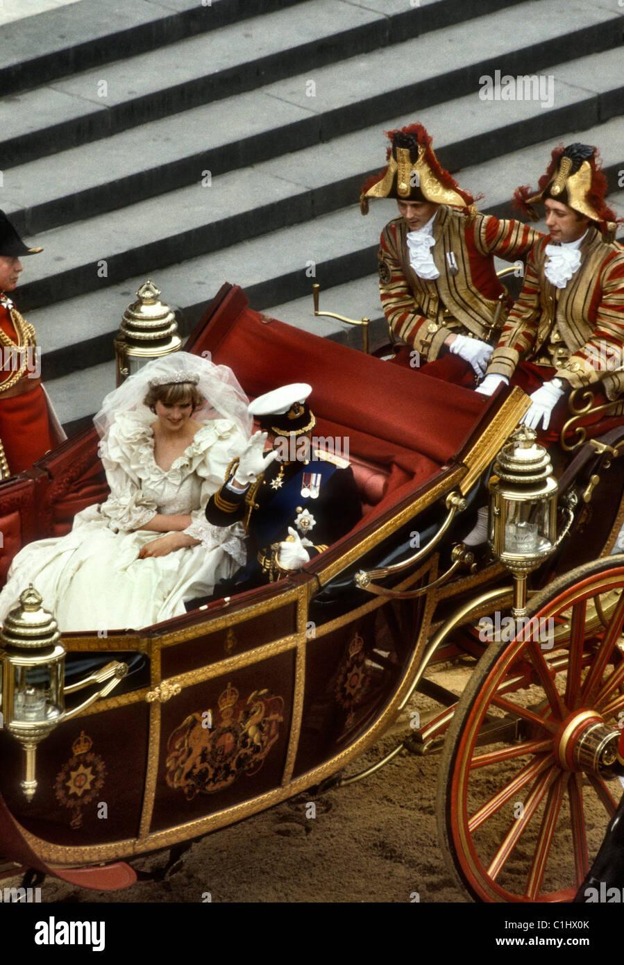 Boda Real del príncipe Carlos y Lady Diana Spencer Foto de stock