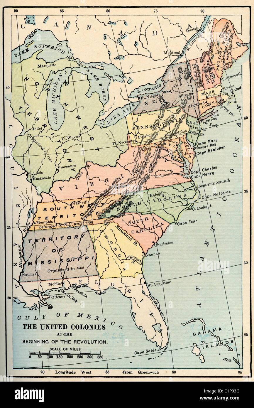 Mapa Antiguo De Estados Unidos A Partir De Originales De Libros De Texto De Geografía 1865 Fotografía De Stock Alamy