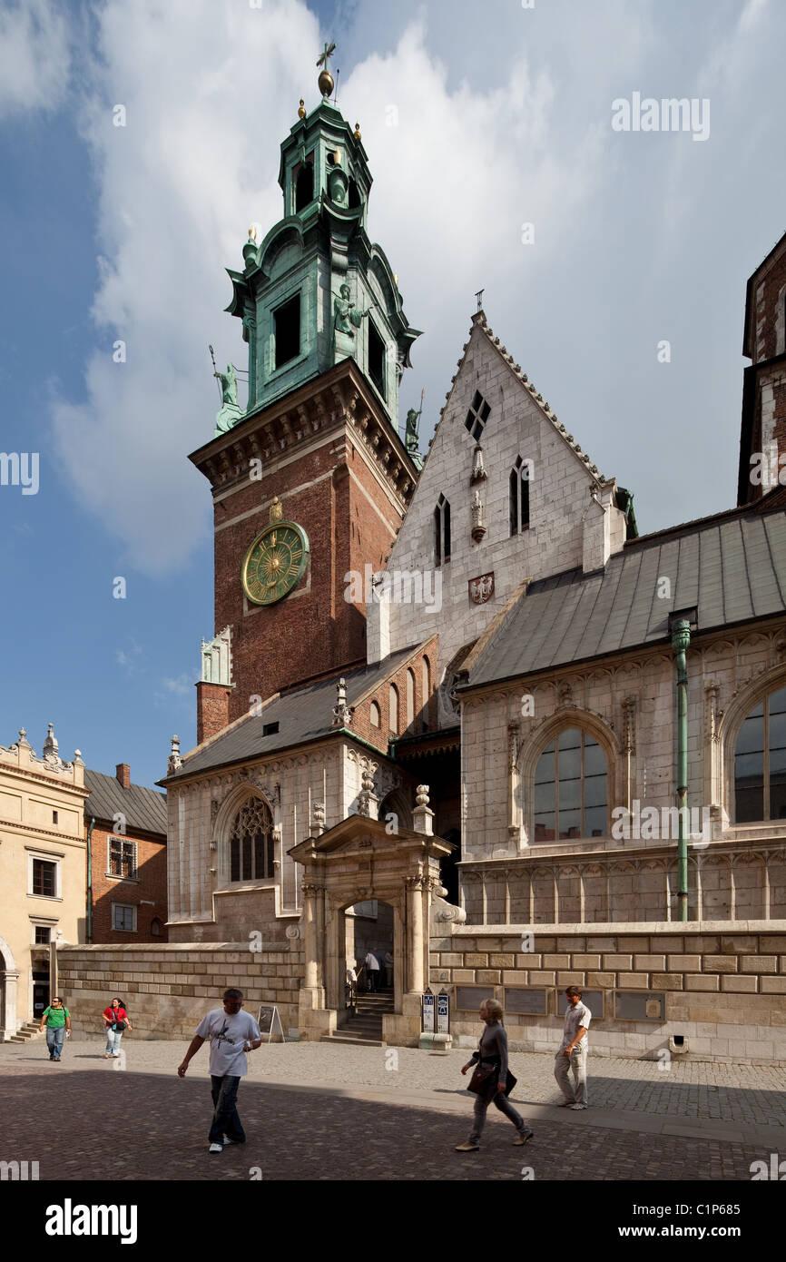 Krakau, S. Estanislao Kathedrale und Wenzel, Wawel-Kathedrale Wawel, Imagen De Stock