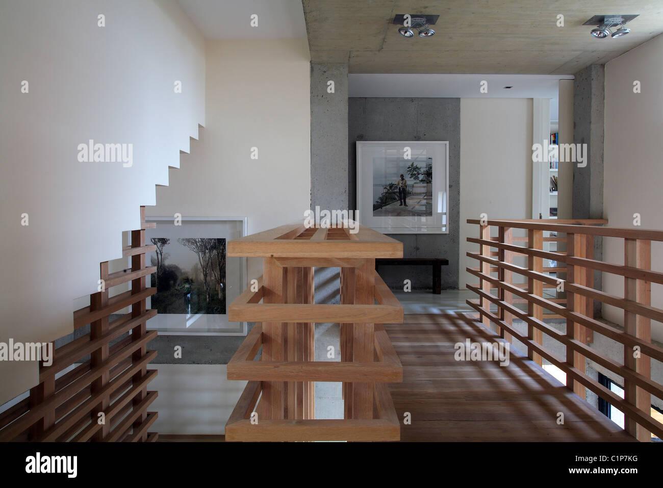 Sudáfrica, Cape Town, Camps Bay, interieur de arquitectos casa Foto de stock