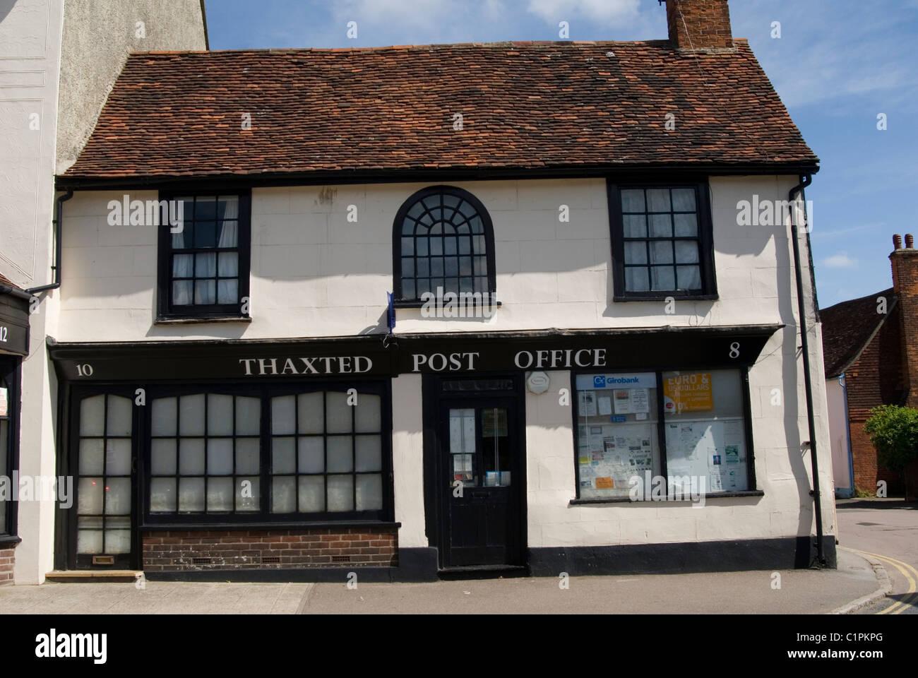 Inglaterra, Essex, Thaxted Post office, fachada Imagen De Stock