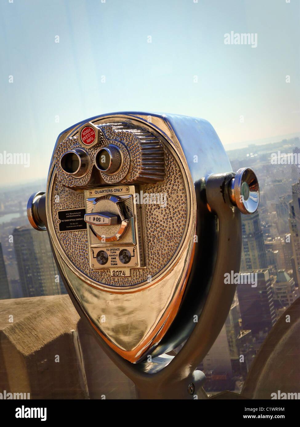 Las ciudades estadounidenses, Nueva York City Sightseeing Viewer. Imagen De Stock