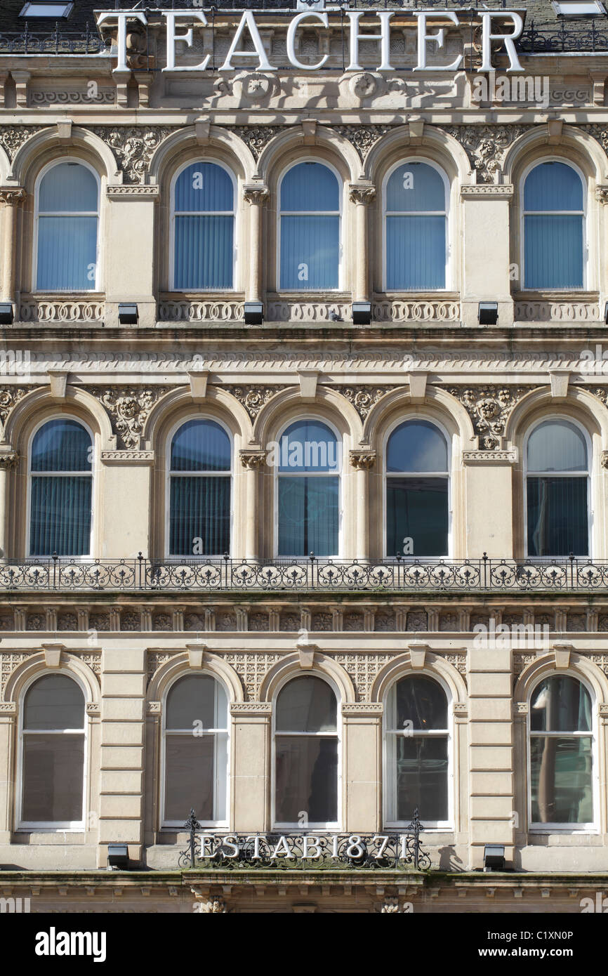 Un ejemplo de la arquitectura victoriana en el centro de la ciudad de Glasgow, Escocia, Reino Unido Imagen De Stock