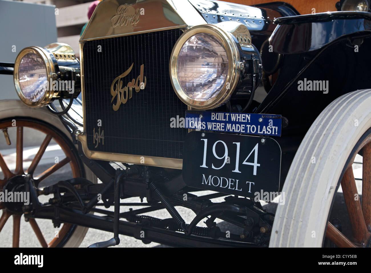 Detroit, Michigan - un Ford Modelo T de 1914 automóviles. Imagen De Stock