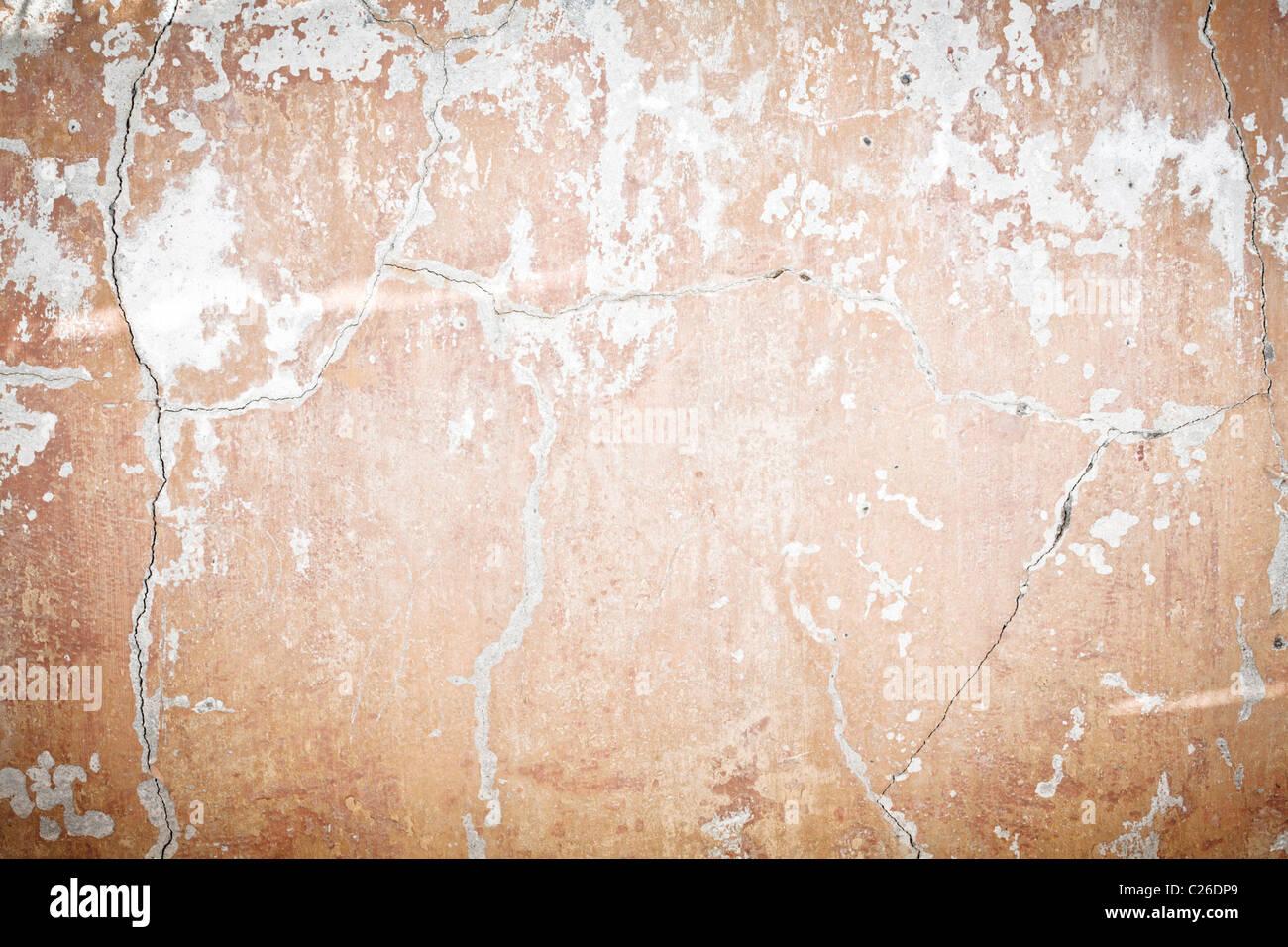 Antigua muralla agrietada Imagen De Stock