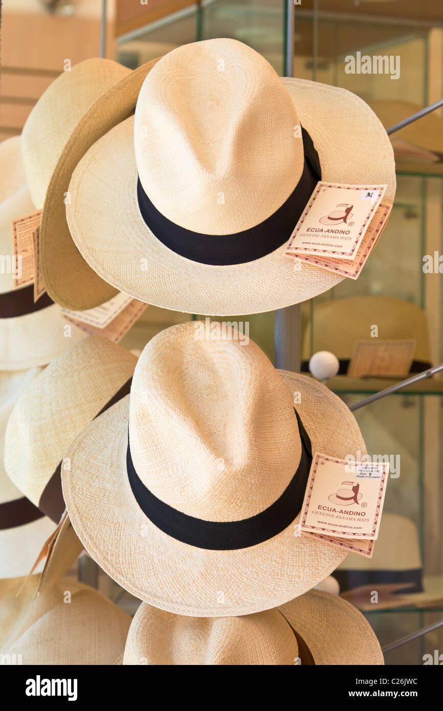 f2a082b823d96 Panama Hats Hat Imágenes De Stock   Panama Hats Hat Fotos De Stock ...