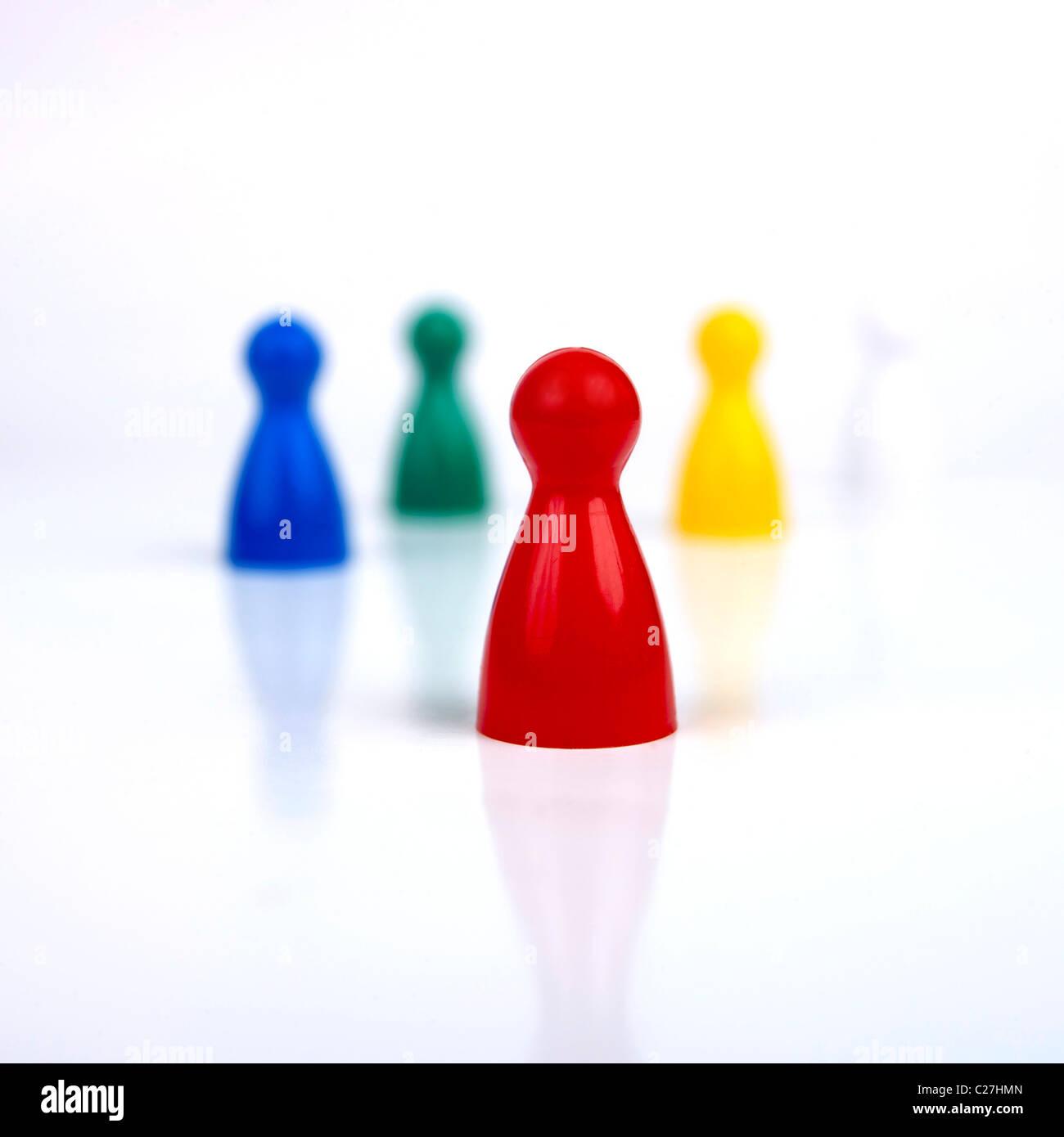 Diversidad / concepto de liderazgo Imagen De Stock