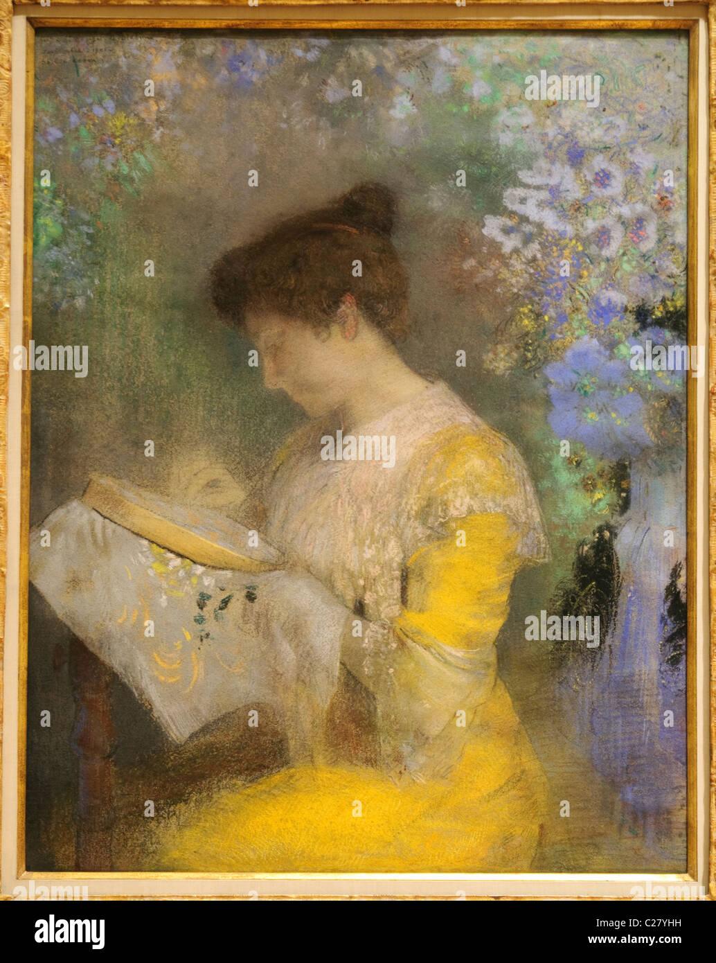 Madame Arthur Fontaine (Marie Escudier,), 1901, por Odilon Redon, Imagen De Stock