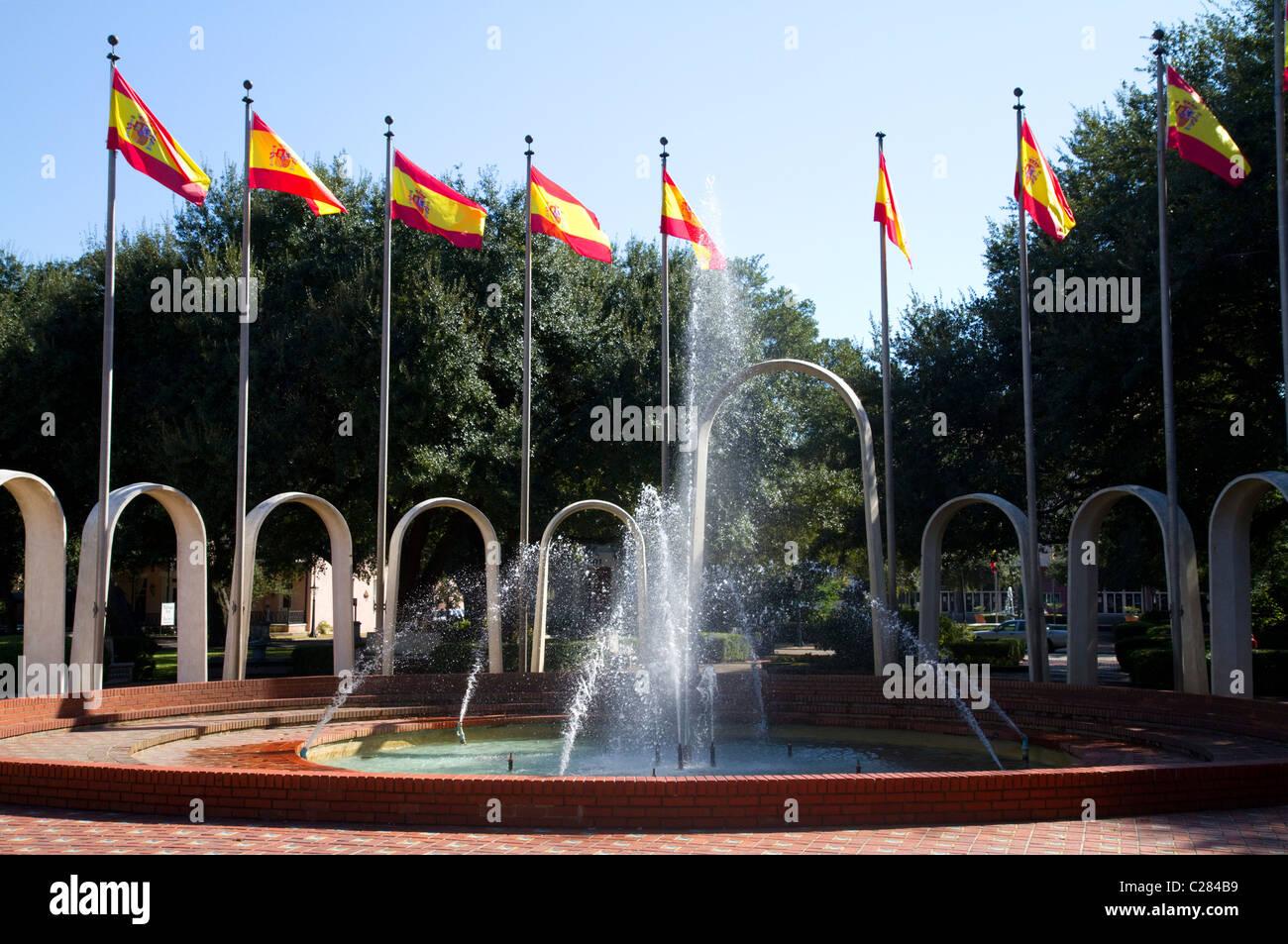 La Plaza de España es un céntrico parque que honra la ocupación española de Mobile, Alabama, Estados Unidos. Foto de stock