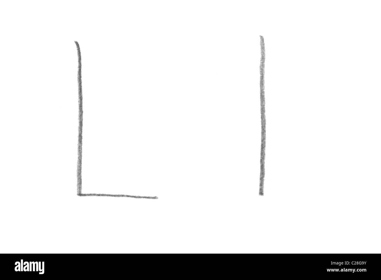 Letra L Minúscula Imágenes De Stock Letra L Minúscula