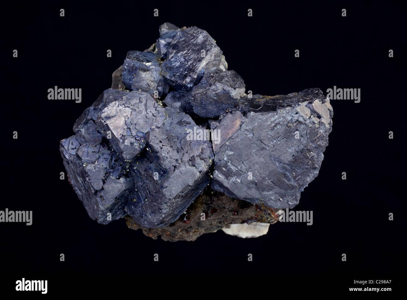 Galena (PbS (sulfuro de plomo) - condado de Sweetwater Mina - Reynolds - Missouri - USA - el mineral principal de Imagen De Stock