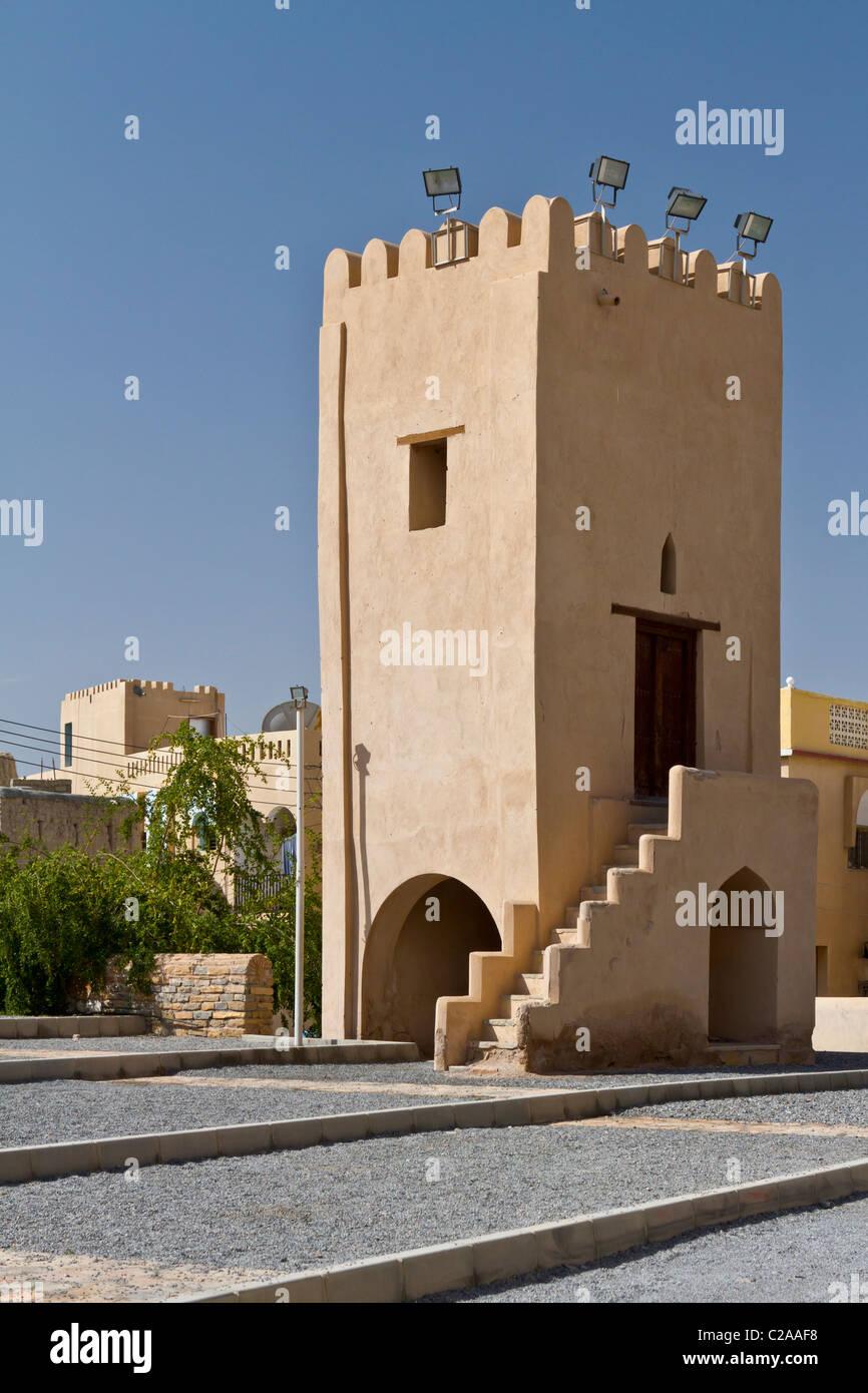 Arquitectura de fortificación en NIzwa, Omán. Imagen De Stock