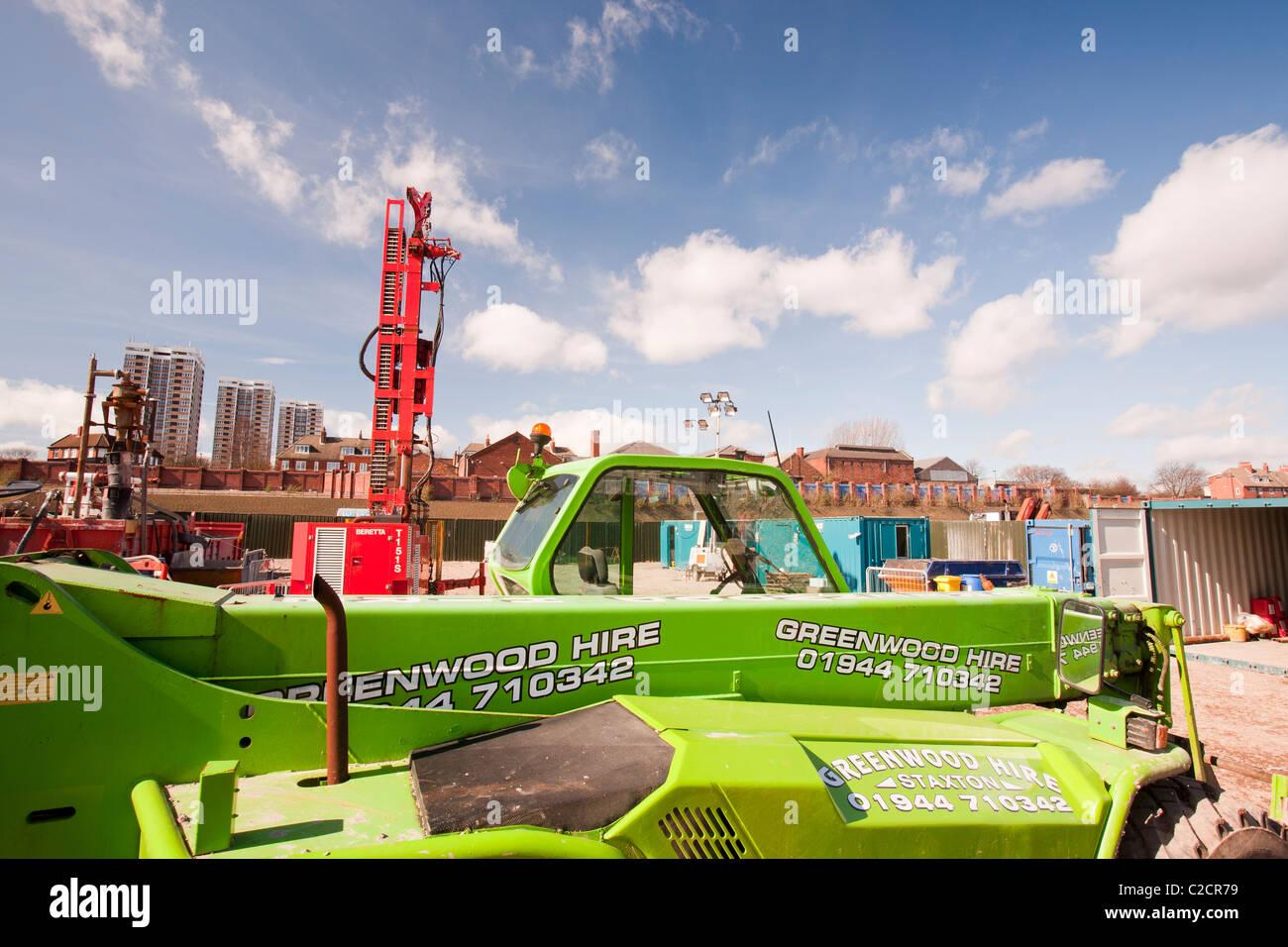 Un proyecto de energía geotérmica de la Universidad de Newcastle, financiado por el Ministerio de Energía Imagen De Stock
