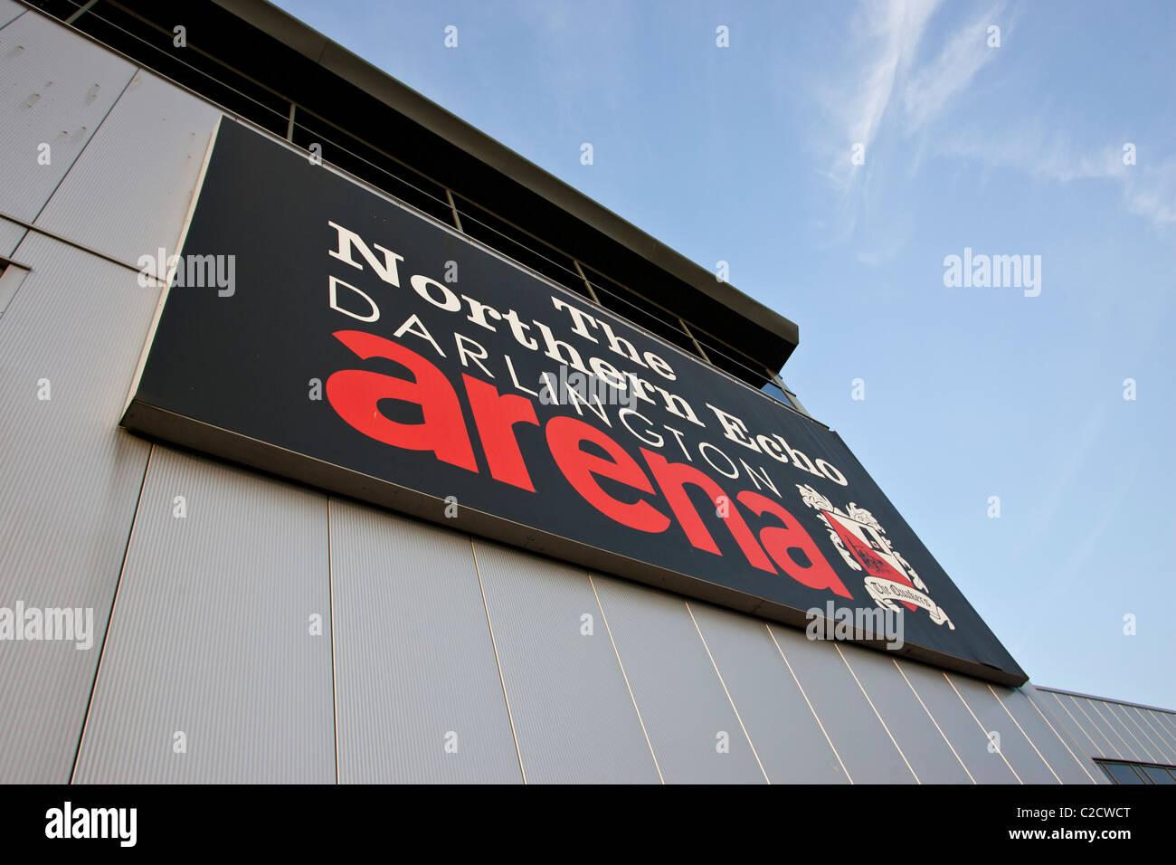 El norte de Darlington Echo Arena, hogar del club de fútbol de Darlington. Foto de stock